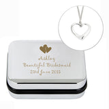 Heart Necklace and Personalised Box
