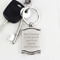 Personalised Photo Frame and Mirror Keyring