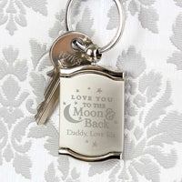 To the Moon and Back.... Personalised Photo Frame Keyring