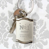 No.1 Photo Frame Personalised Keyring