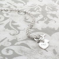 Hearts T-Bar Personalised Necklace