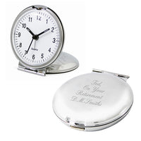 Round Personalised Travel Clock
