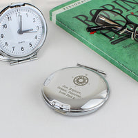 Compass Round Personalised Travel Clock