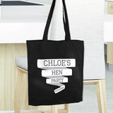 Banner Personalised Black Cotton Bag