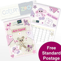 Cotton Zoo Girls Personalised Calendar