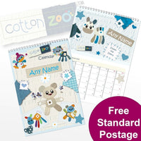 Cotton Zoo Boys Personalised Calendar
