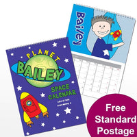 Space themed Personalised Calendar
