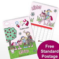 Bang on the Door Pony Girl Personalised Calendar