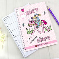 Bang on the Door Pony Girl Personalised A5 Diary