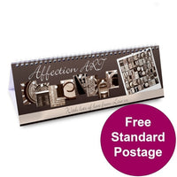 Affection Art Personalised Desk Calendar