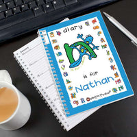 Bang On The Door Animal Alphabet Boys Personalised A5 Diary