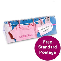 Baby Girl Personalised Desk Calendar