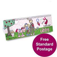 Bang On The Door Pony Personalised Desk Calendar