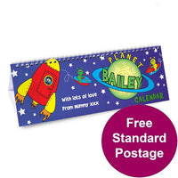 Space themed Personalised Desk Calendar