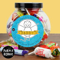 Purple Ronnie Celebration Personalised Jar of Sweets For Him