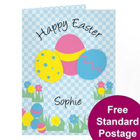 Happy Easter Egg Personalised Card