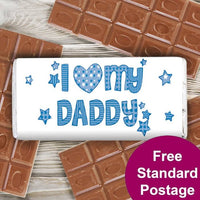 Patterns I Heart My Personalised Milk Chocolate Bar
