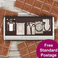 Affection Art I Heart You Personalised Milk Chocolate Bar