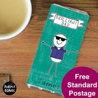 Purple Ronnie Cool Dude Personalised Milk Chocolate Bar