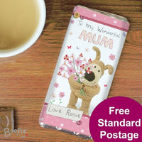 Boofle Flowers Personalised Chocolate Bar