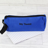 Blue Personalised Pencil Case
