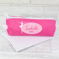 Ballerina Pink Personalised Pencil Case