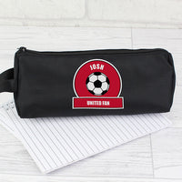 Red Football Fan Personalised Pencil Case