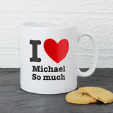 I HEART Personalised Mug