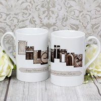 Affection Art Valentine Personalised Slim Mug