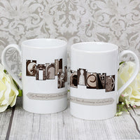 Affection Art Girlfriend Personalised Slim Mug