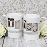 Affection Art I Heart You Personalised Slim Mug