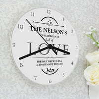 Full of Love Personalised Glass Clock