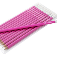 Name Only Personalised Pink Pencils