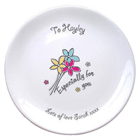 Especially For You Flowers Bone China Coupe Plate