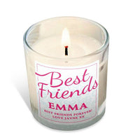 Personalised Best Friends Scented Candle