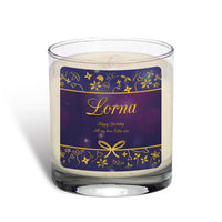 Personalised Ornate Design Scented Candle