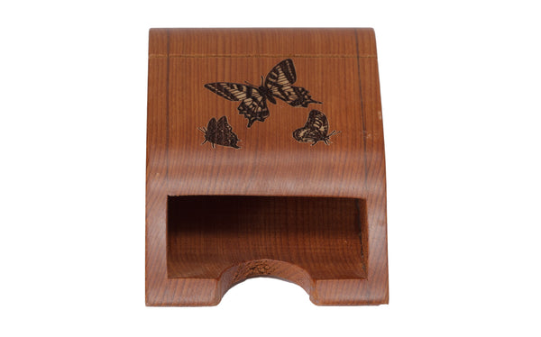 Butterly Etched Box-Style Business Card Holder