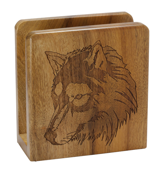 Wolf Square Napkin Holder