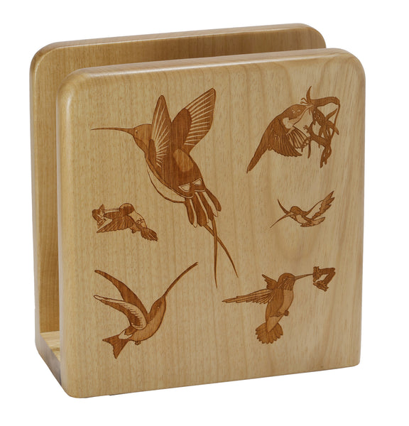Hummingbird Square Napkin Holder