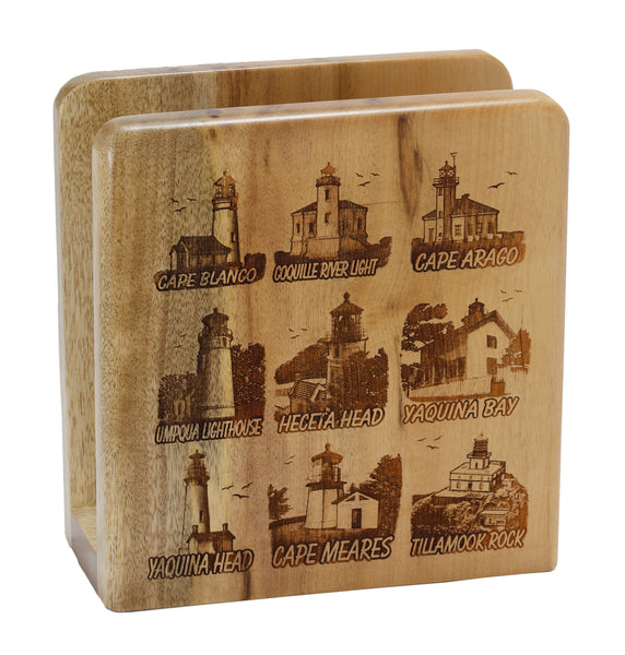 Capes of Oregon Square Napkin Holder