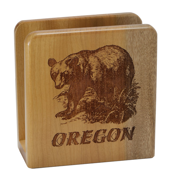 Oregon Black Bear Napkin Holder