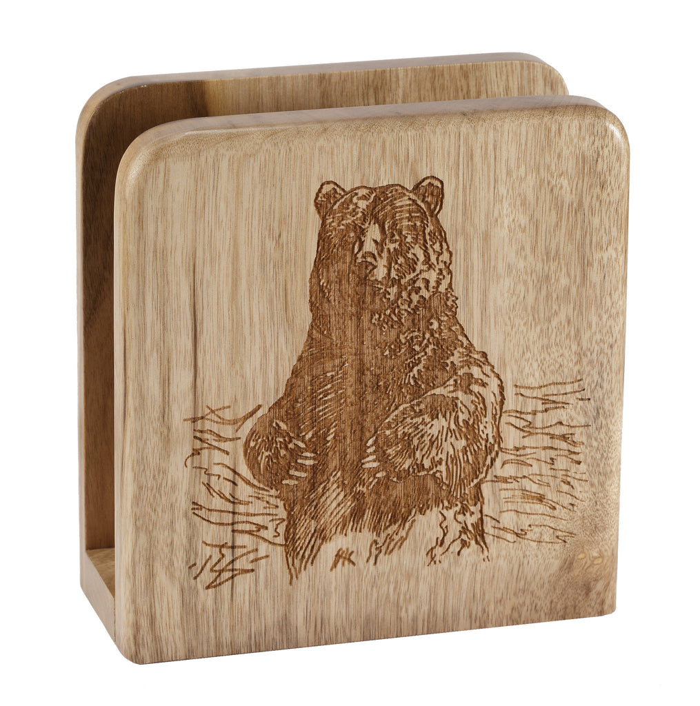 Grizzly Bear Napkin Holder