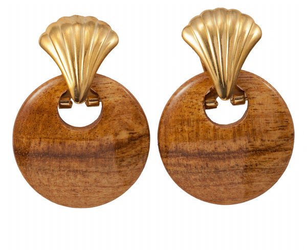 Cut Out Wood Earring