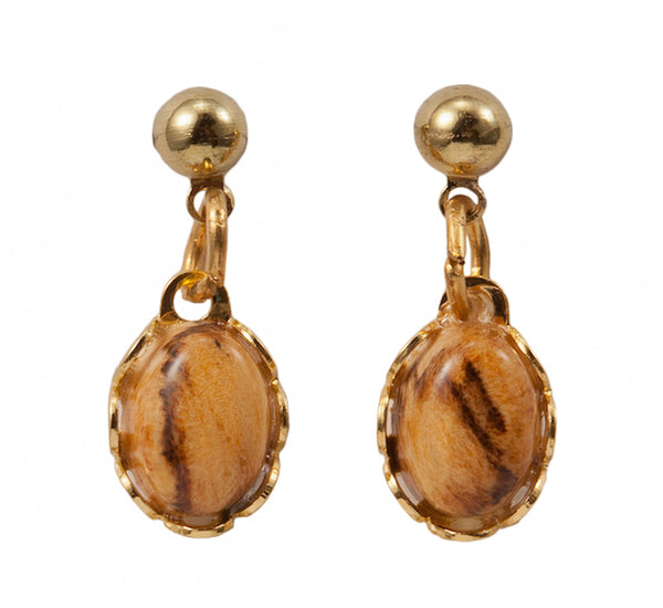 Dangle or Post Earring Wooden Jewelry