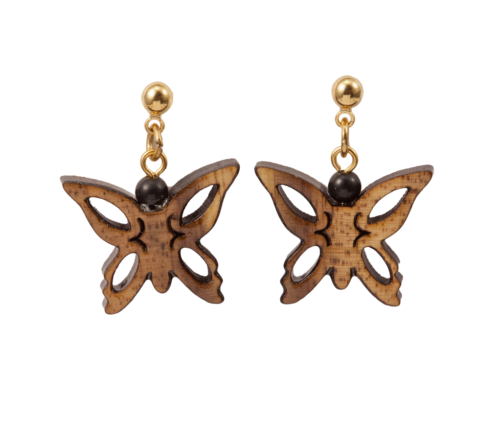 Large Laser Cut Butterfly Dangle Earring
