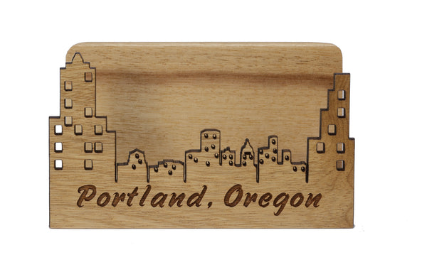 Portland Oregon Laser Cut Business Card Holder