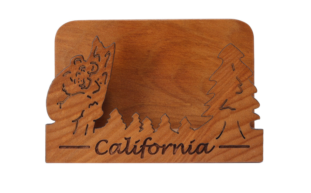 California laser cut business card holder woods of the west california laser cut business card holder reheart Images