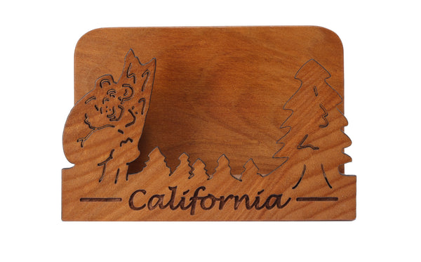 California Laser Cut Business Card Holder