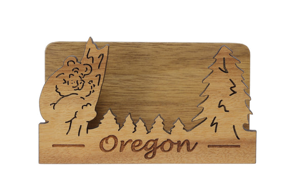 Oregon Laser Cut Business Card Holder