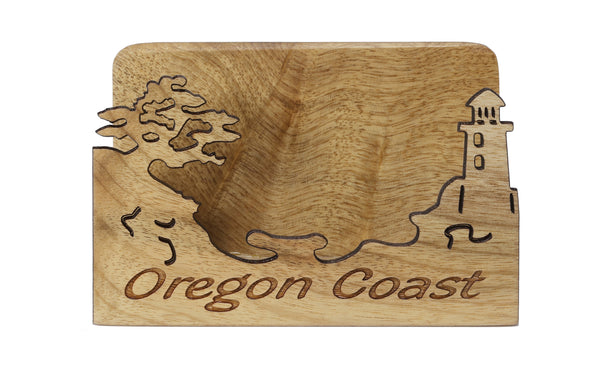Oregon Coast Laser Cut Business Card Holder